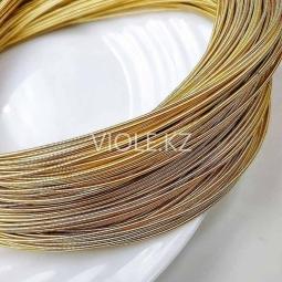 Канитель жёсткая 1 мм, светлое золото (00152)