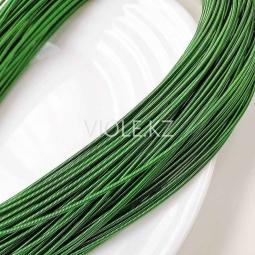 Канитель жёсткая 1,2 мм, зелёный (00047)