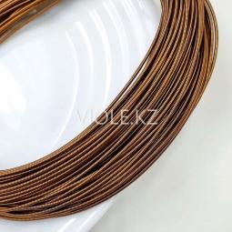 Канитель жёсткая 1,2 мм, тёмн. коричневый (00021)
