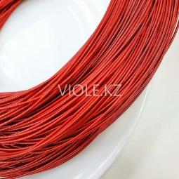 Канитель жёсткая 1 мм, красный (00151)