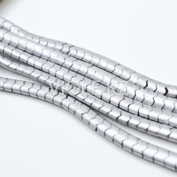 Гематит змейка, цвет сталь, 3,4*5,5 мм., нить