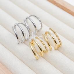 Швензы тройные, витое и гладкие кольца, 19 мм