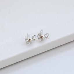 Калоты - концевики для колье и браслетов, цвет платина, 4 мм
