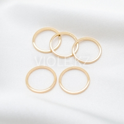 Коннектор кольцо, 20 мм, 25 мм, позолота 18К / родий