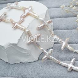 """Жемчуг, форма """"Крупный крест"""", 21-25 мм*25-35 мм, (нить/шт)"""