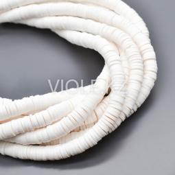 Силиконовые бусины Хейши 6 мм. Белый