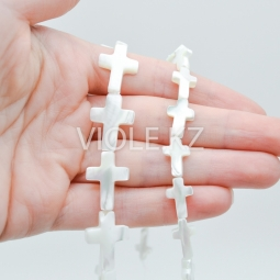 Перламутр белый крестик (шт.)