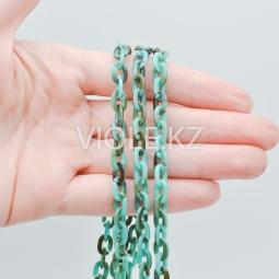 Пластиковая цепь, разноцветная (1), 6*8 мм.
