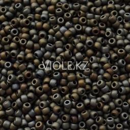 Круглый бисер ТОХО 11/0 Frosted Metallic Iris - Brown (83F)
