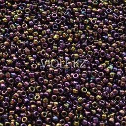 Круглый бисер ТОХО 15/0 Metallic Iris - Purple (85)