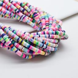 Силиконовые бусины Хейши 4 мм. Разноцветный сет 20