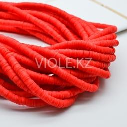 Силиконовые бусины Хейши 6 мм. Красный