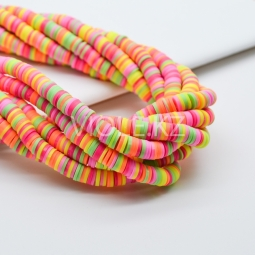 Силиконовые бусины Хейши 6 мм. Разноцветный сет 4