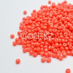 Бусины оранжевые, 3 мм. (10 гр.)
