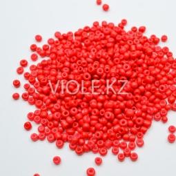 Бусины красные, 3 мм. (10 гр.)