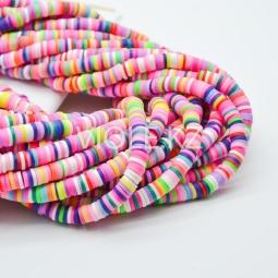 Силиконовые бусины Хейши 6 мм. Разноцветный сет 27