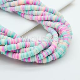 Силиконовые бусины Хейши 6 мм. Разноцветный сет 11