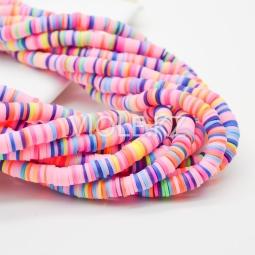 Силиконовые бусины Хейши 6 мм. Разноцветный сет 23