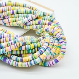 Силиконовые бусины Хейши 6 мм. Разноцветный сет 14
