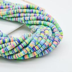 Силиконовые бусины Хейши 6 мм. Разноцветный сет 13