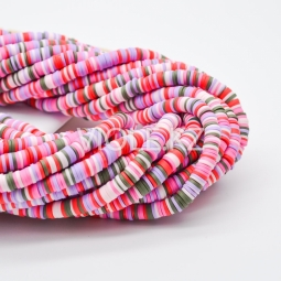 Силиконовые бусины Хейши 6 мм. Разноцветный сет 24