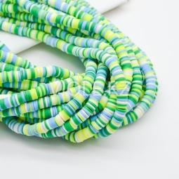 Силиконовые бусины Хейши 6 мм. Разноцветный сет 12