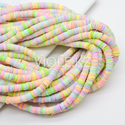 Силиконовые бусины Хейши 6 мм. Разноцветный сет 18