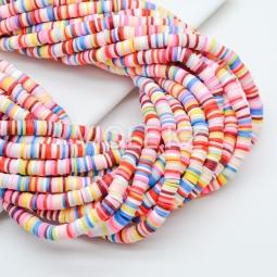 Силиконовые бусины Хейши 6 мм. Разноцветный сет 25