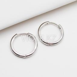 Швензы круглы конго тонкие, 17 мм, родий
