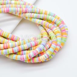 Силиконовые бусины Хейши 6 мм. Разноцветный сет 19