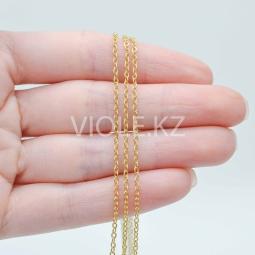 Тонкая цепь 1,6 мм. 18К. (10 см.)