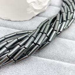 Гематит трубочка, 4*12 мм., нить