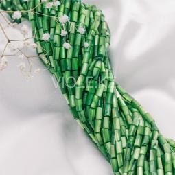 Перламутр палочка, зелёный, 4*8 мм. (нить)